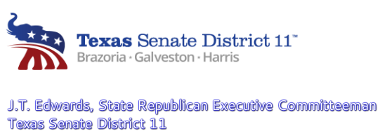 JT Edwards, State Republican Executive Committeeman for TX Senate District 11